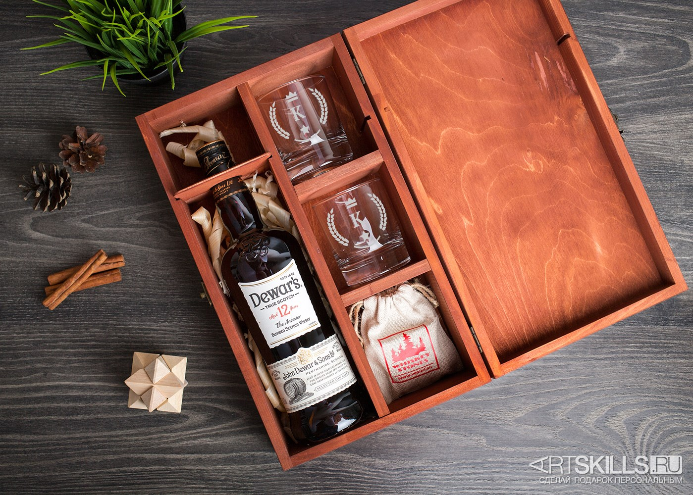 Подарочная коробка для виски своими руками 5