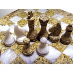 Каменные шахматы Яшма-мрамор