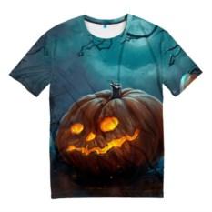 Мужская 3D-футболка Тыква