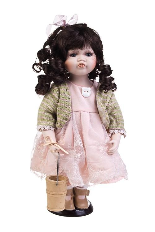 Фарфоровая кукла Голубоглазая кудряшка (30 см)