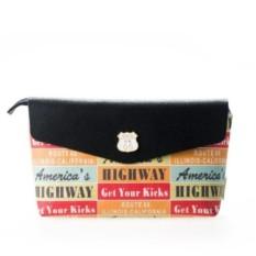 Большая косметичка «Route 66» Black