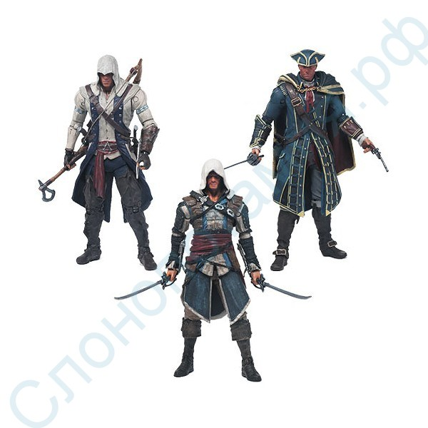 Набор фигурок Assassin's Creed Neca: Edward, Haytham, Connor