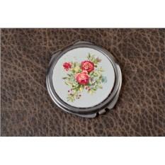 Карманное зеркальце Розы (белый)