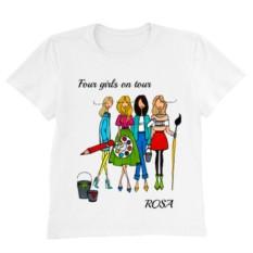 Персонализированная футболка ART GIRLS