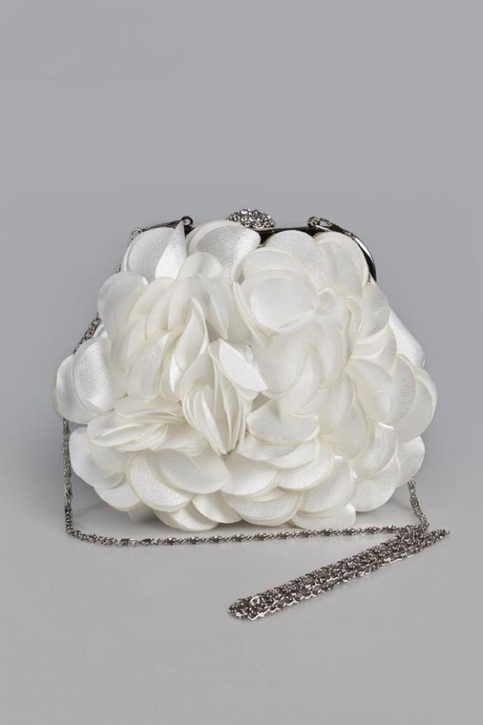 Сумка-клатч Рози, белая