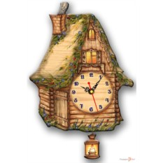 Часы настенные с маятником Избушка