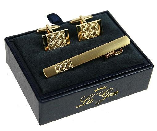 Подарочный набор LA GEER (заколка для галстука, запонки)