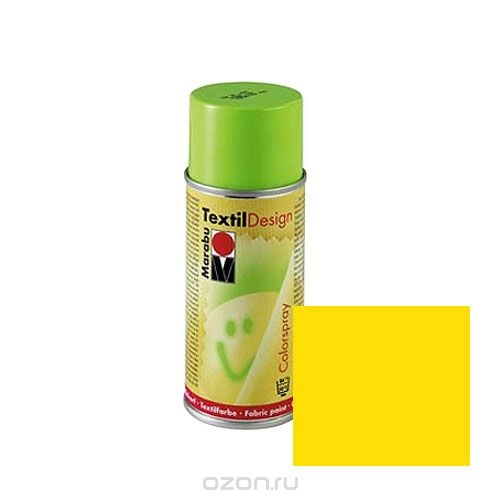 Краска-аэрозоль для ткани Marabu Textil Design, цвет: желтый