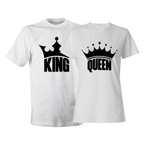 Парные футболки King&Queen