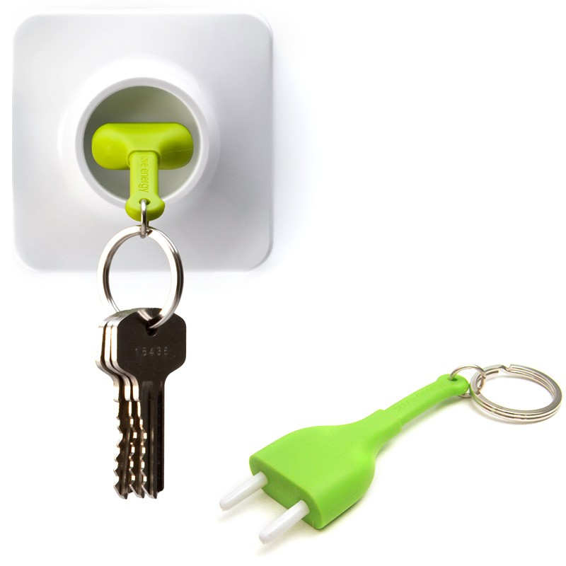 Брелок+держатель для ключа Unplug, зеленый