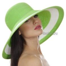 Зеленая широкополая пляжная шляпа Del Mare