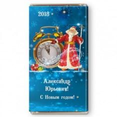 Шоколадная открытка «Будильник Деда Мороза»