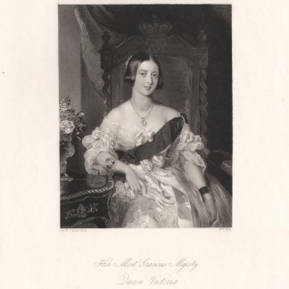 Гравюра «Королева Виктория»