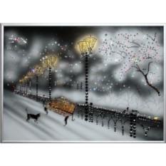 Картина Swarovski Зимняя аллея