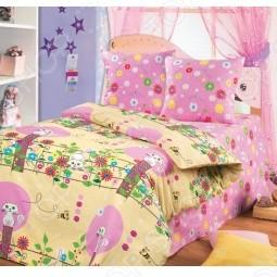 Комплект детского постельного белья «Кошка и пчелка»
