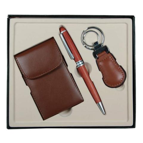 Подарочный набор VIRON: визитница, ручка, брелок