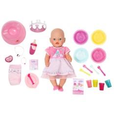 Праздничная интерактивная кукла Baby born от Zapf Creation