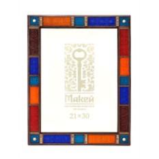 Рамка для фото из кожи «Мозаика»