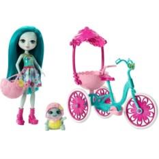 Игровой набор Mattel Enchantimals Прогулка на велосипеде