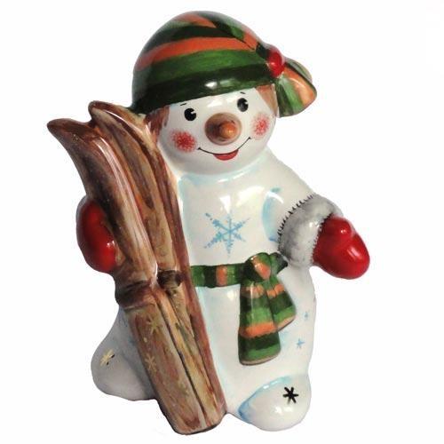 Фигурка Снеговик с лыжами