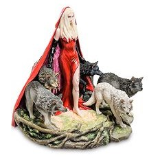 Статуэтка Девушка и волки