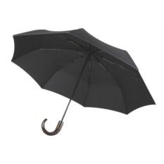 Черный зонт Wood classic без чехла