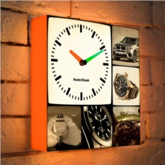Световые фоточасы в стиле Сепия