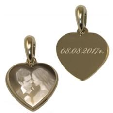 Золотистый медальон Сердце