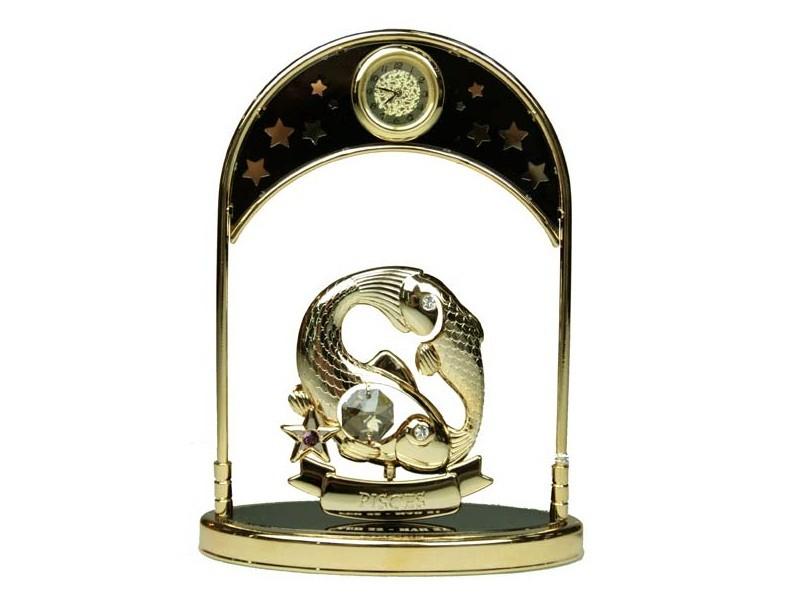 Декоративная фигурка с часами Знак зодиака Рыбы