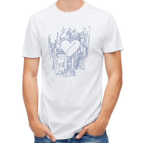 Мужская синтетическая футболка  Микросхема