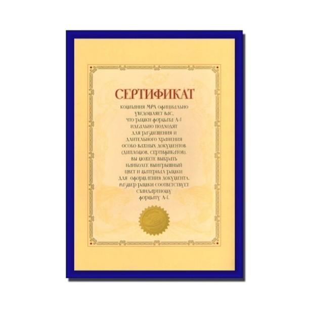 Фоторамка Синий А4