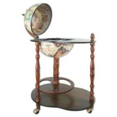 Белый напольный глобус-бар-столик