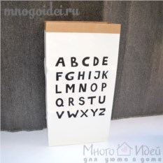 Эко-мешок для игрушек из крафт бумаги Алфавит