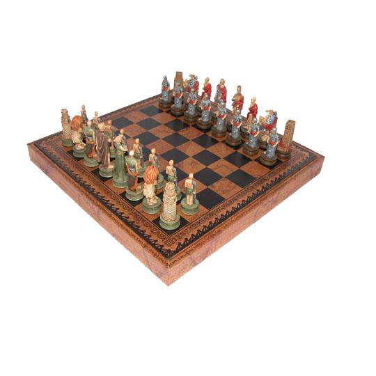 Шахматная доска «Люкс» и шахматные фигуры «Восстание Спартака»