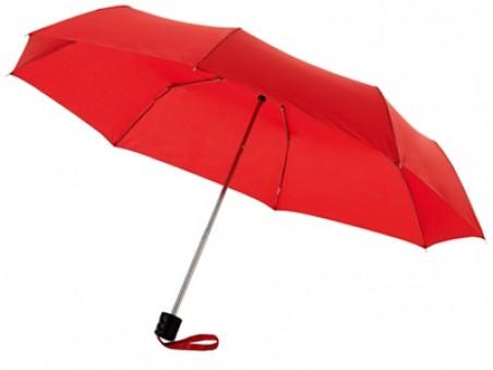 Красный складной механический зонт Bernard