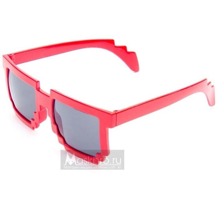 Красные пиксельные очки
