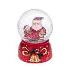 Новогодний снежный шар Шар - Дед Мороз с малышкой