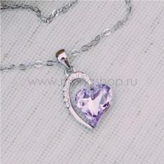 Кулон с фиолетовым кристаллом Сваровски Олимпия