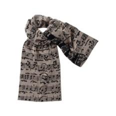 Мужской шерстяной шарф Legato (песочно-черный)