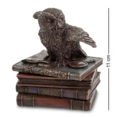 Шкатулка Мудрая сова (цвет — медный)