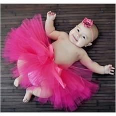 Детская юбка-пачка из фатина Розовая