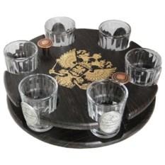 Мини-бар с печатями на рюмках Герб