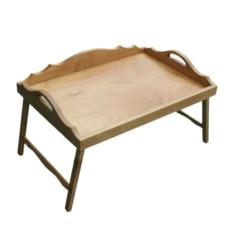 Столик для завтрака с 3-мя фигурными бортиками (цвет: вишня)