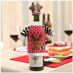 Чехол на бутылку «Новогодний олень»