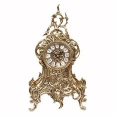Оригинальные часы из бронзы с завитком