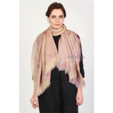 Кремово-розовый женский палантин Laura Milano