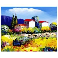 Картина-раскраска по номерам на холсте Прованс