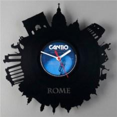 Часы из виниловой пластинки  Рим