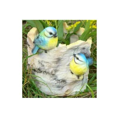 Кашпо «Пенёк берёзовый с птичками»