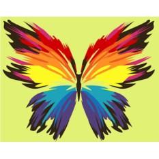 Картина по номерам «Бабочка-многоцветница»